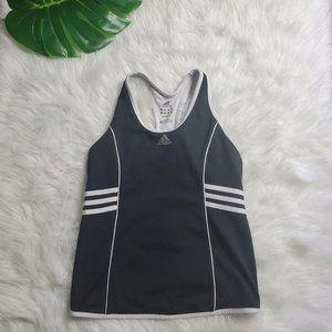 Adidas Womens Black 3 striped Tank Top